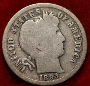 1893-S San Francisco Mint Silver Barber Dime