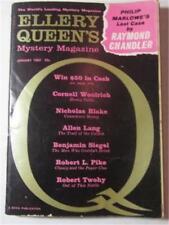 ELLERY QUEEN MYSTERY MAGAZINE JAN 1962 RAYMOND CHANDLER CORNELL WOOLRICH