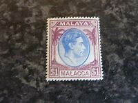 MALAYA MALACCA POSTAGE STAMPS SG15 $1 LIGHTLY-MOUNTED MINT