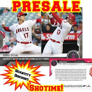 SHOHEI OHTANI 2021 MLB TOPPS NOW Records K, RBI & Run Scored in 1 Inning!PRESALE