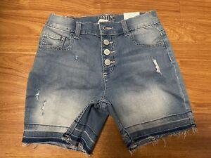 New! Justice Jeans girls Denim shorts size 12 High Waist