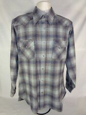 Pendleton Men's Shirt Wool High Grade Western Wear Pearl Snap 70's Vintage L