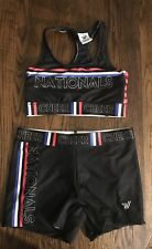 Women'sJuniors Small Cheer Nationals Spandex Bra Top And Shorts New Without Tags