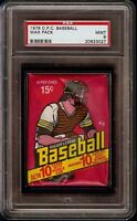 Rare 1978 O-Pee-Chee OPC Baseball Unopened Wax Pack Graded PSA 9 Mint Ryan Back