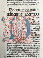Petrus de Palude Sermones Thesauri Huge Rubricated Incunable Folio - 1484