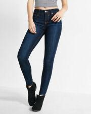 EXPRESS 2 DARK BLUE SUPER HIGH RISE JEAN LEGGING Jeans Leggings xs buttonfly