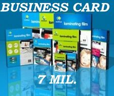 25 Business Card 7 Mil Laminating Pouches Laminator Sheets 2-1/4 x 3-3/4 Quality