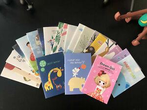 5pcs/lot Cute Pattern Mini Thin Notebook Kids Prize Stationery Shop Free Gift