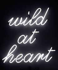 """New Wild At Heart Acrylic Panel Wall Handcrafted Neon Light Sign 10""""x10"""" LT1S"""