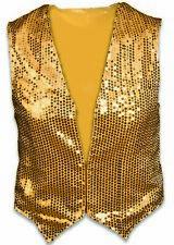 Adult Gold Sequin Vest Sequined Dance Disco Casino Dealer Jazz Men's Costume