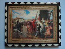 """""""The Capitulation of Granada"""" reproduction inlaid wood Recuerdo de Granada craft"""