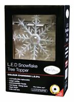 The Benross Christmas Workshop Battery Operated LED Snowflake Christmas Tree