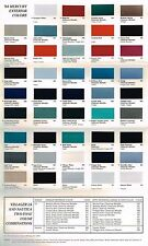 1994 Mercury COLOR CHART Chip Paint Brochure: GRAND MARQUIS,CAPRI,COUGAR XR7,