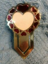 Nos Avon Picture This Enamel Hearts Picture Frame Metal Bookmark #2