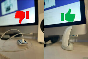 Ladestation für Apple Magic Mouse 2, 3D-Druck, Marmor, Ladeschale inkl USB-Kabel