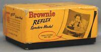 EASTMAN KODAK BROWNIE REFLEX Vintage Film Camera Synchro Model USA + BOX CLEAN!