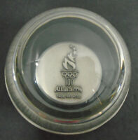 VINTAGE 1996 ATLANTA OLYMPIC GLASS PAPERWEIGHT