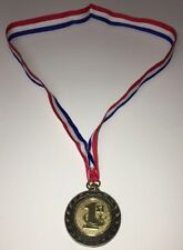 1st Place Medal 2 inch Metal Medallion on Ribbon