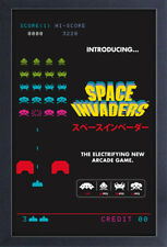 SPACE INVADERS INTRODUCING VIDEO GAME 13x19 FRAMED GELCOAT POSTER ATARI ICON NEW