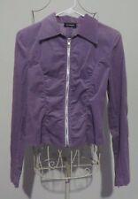 A. Byer Lavender Zip Front Waist Length Corduroy Jacket - Juniors Size M