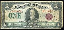 "DC-25i 1923 $1 ONE DOLLAR DOMINION OF CANADA BANKNOTE ""BRONZE SEAL"""