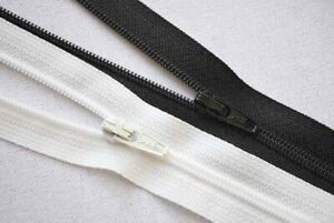 """YKK Nylon Coil No.3 Zip, OPEN ENDED, 91CM/36"""" - VARIOUS COLOURS AVAILABLE"""