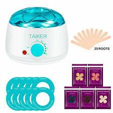 Hair Removal Wax Heater Pot Machine Warmer Waxing Kit Beans Painless Depilatory