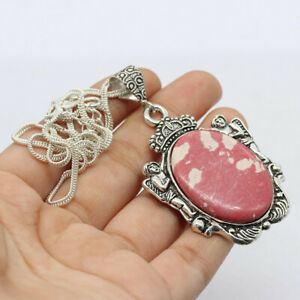 """Red Mosaic 925 Silver Plated Handmade Gemstone Necklace of  18"""" Ethnic Gift"""