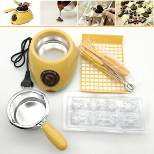 Electric Chocolate Melting Pot Fondue Heating Melters Baking Kitchen Machine DIY