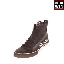 Rrp €170 Diesel S-Dvelows Mid Denim High Top Sneakers Eu 43 Uk 9 Us 10 Printed