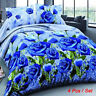 2018 4Pcs Set 3D Brushed Printed Duvet / Quilt Cover Bedding Queen King Size US
