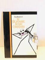 NECA Nightmare Before Christmas Hardcover Scary Jack Diary W/ Lock & Key NEW!