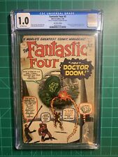 Fantastic Four 5! First Doctor Doom!!! UK Price Variant. CGC 1.0 Off White Pages