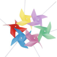 10pcs Colorful Plastic Windmill Toys Pinwheel Self-assembly Windmill Kid's Toy^P