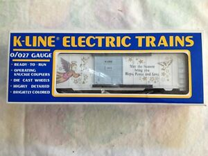 K-LINE CHRISTMAS HOLIDAY 1994 BOXCAR K647403 MINT CONDITION