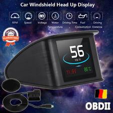 P10 Auto LCD HUD Head Up Display OBD2 Tachometer Geschwindigkeit Speed Warning G