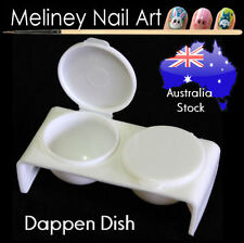 Twin Dappen Dish Nail Art acrylic bowl cup plastic tool Manicure Monomer Double