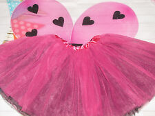 NEW Fairy Princess lady bug Tutu Wings halloween costume 2pc Set 3-8 years