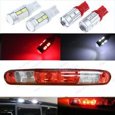 4Pcs 912 T10 LED Bulbs High Mount 3rd Brake Stop Lamp White Red Light For GMC