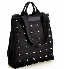 Designer Canvas Rivet New Handbag Womens Fashion Tote Shoulder Bags Ladies Large