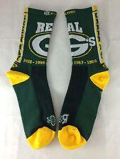 "Green Bay Packers ""Real G's"" socks (Unisex, LG, Green)"