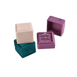 Beautiful Quality New Square Velvet Ring Box Wedding Gift