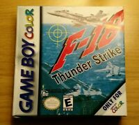 F-18 Thunderstrike (Nintendo Game Boy Color, 2000) COMPLETE IN BOX MINT CIB!