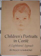 Children's Portraits in Conte by Peggy Hammond, 1961