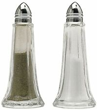 More details for 12 x glass lighthouse salt or pepper shakers pots cruets condiment dispensers
