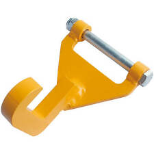 """4"""" Container Roll Off Hook Pained Yellow Over Zinc Plated"""