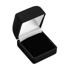 "24 PCS CLASSIC VELOUR RING BOX, BLACK RING BOX 1 3/4"" X 1 7/8"" X 1 1/2"""
