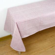 Checked Print Tablecloth Decorative Elegant Table Cloth Linen Cover 4 Colors