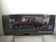 1/18 SCALE ERTL AMERICAN MUSCLE AUTHENTICS MAROON 1964 FORD THUNDERBOLT