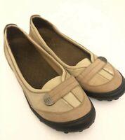 Women's LANDS' END Sz 9M Tan Brown Leather Slip On Comfort Shoes